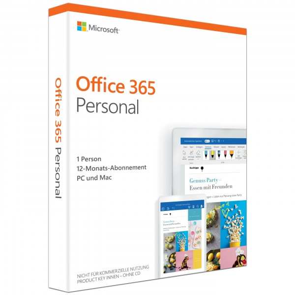 Microsoft Office 365 Personal (1 User / 1 Jahr) PC/MAC