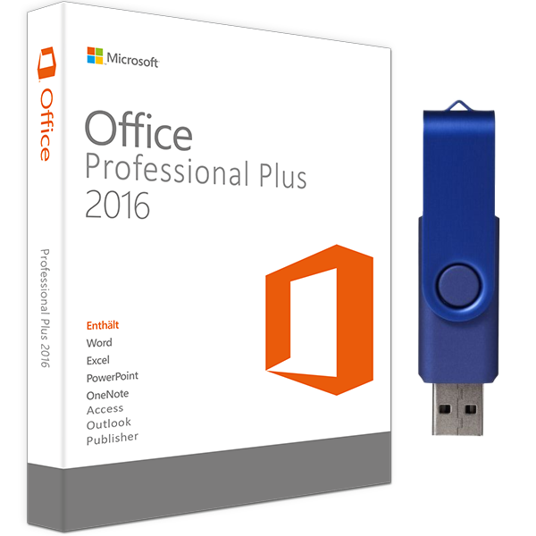 OFFICE 2016 PROFESSIONAL PLUS USB-STICK