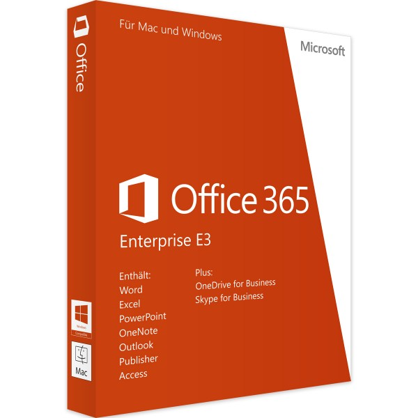 MICROSOFT OFFICE 365 ENTERPRISE E3 - 5 User - 1 Jahr